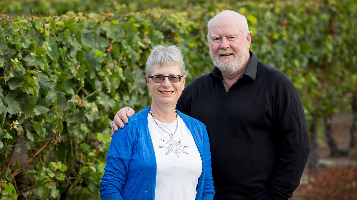 Winemaker: Brent Rawstron and his wife Shirley