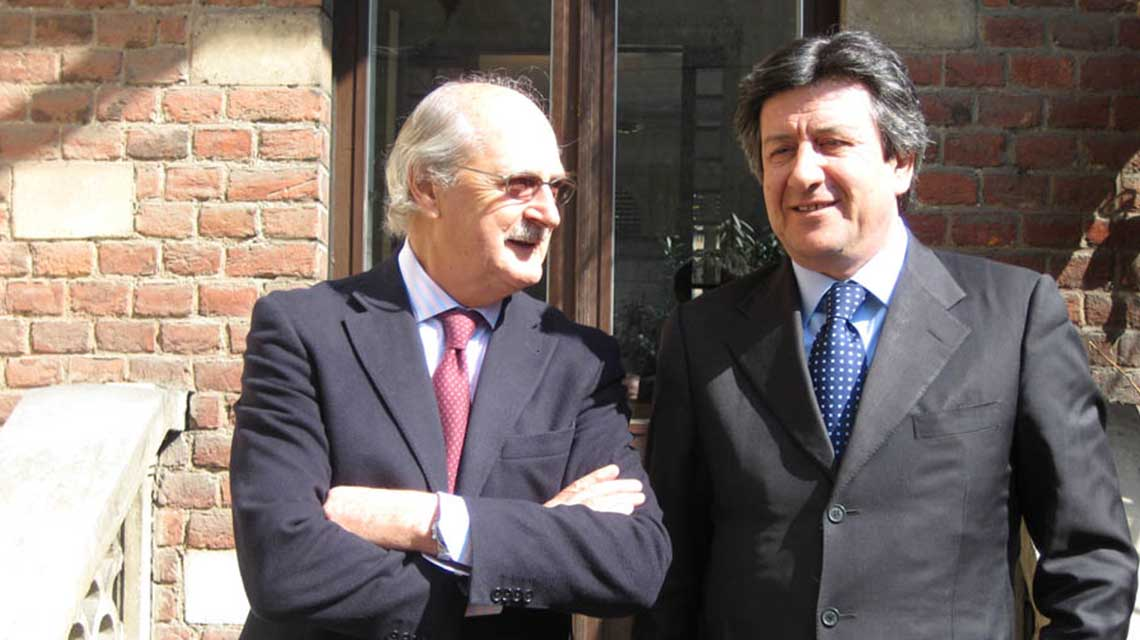 Toscolo Owner, Niel Empson with winemarker, Franco Bernabei